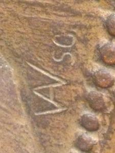 Close-up of signature: