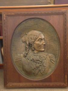 Anne Whitney, Mary Tileston Hemenway, bronze, 32 1/2