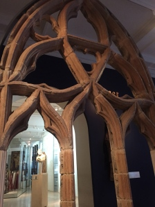 Tracery of a Gothic window from the V&A.