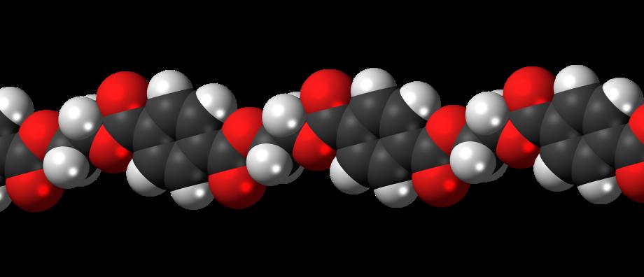 Polyethylene-terephthalate-3D-spacefill