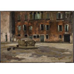 John Singer Sargent, Campo Sant'Agnese, ca. 1882. Source: Davis Museum, Wellesley College.