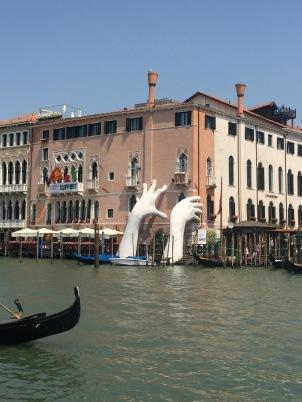 Lorenzo Quinn, Support. (Collateral Installation at Ca' Sagredo, Venice).