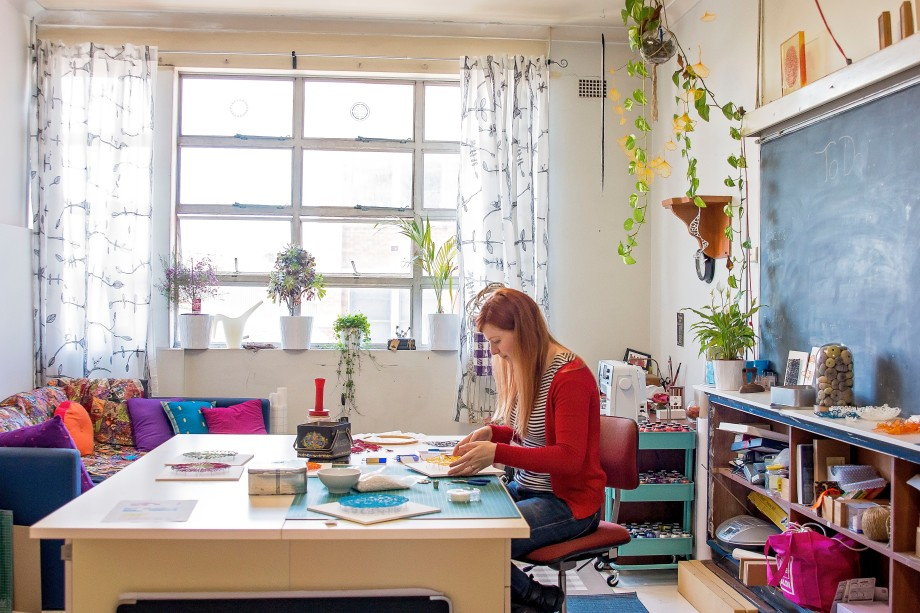 Meredith Woolnough in her studio, photo by Stephanie Owen.jpg