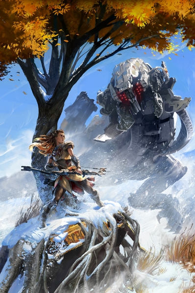 Horizon Zero Dawn, Aloy and Thunderjaw